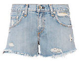 Rag & Bone JEAN Avenida Studded Boyfriend Cut Off Shorts