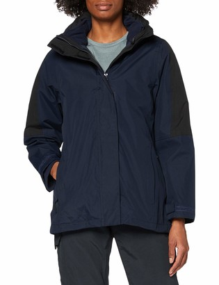 Regatta Womens/Ladies Defender III 3-In-1 Jacket (Waterproof & Windproof) (16) (Navy/Black)