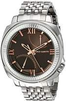 Vince Camuto Men's VC/1002DGSV The Veteran Multi-Function Dial Silver-Tone Bracelet Watch