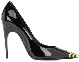 Saint Laurent High-Heel Leather Pumps