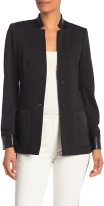 Calvin Klein Faux Leather Trim Jacket