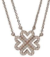 Vanessa Tugendhaft TA6 – Idylle – 405 mm – Love Trfle Ajour – 2 chainettes on Diamond Rose Gold Necklace – Adjustable 40 and 39.5 cm