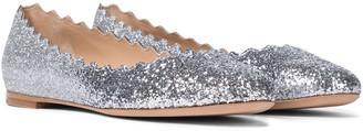 Chloé Lauren glitter ballet flats
