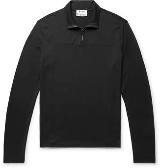 Acne Studios Evias Cotton-Jersey Half-Zip Shirt