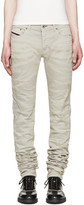 Diesel Black Gold Grey Super Long Skinny Jeans