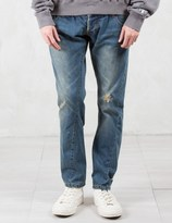 C2H4 Los Angeles Double Waist Heavy Wash Jeans