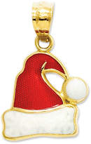 Macy's 14k Gold Charm, Red and White Santa Hat Charm