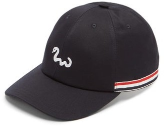 Thom Browne Snake-embroidered Cotton Baseball Cap - Navy