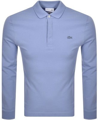 Lacoste Long Sleeved Polo T Shirt Blue