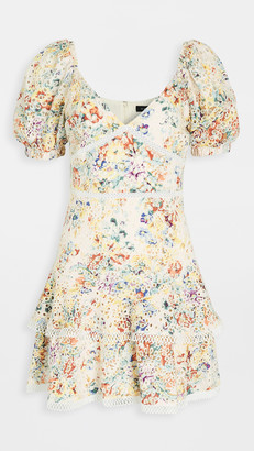 En Saison Ruffled Eyelet Mini Dress