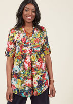 ModCloth Back Road Ramble Cotton Tunic in Rose Garden in 2X