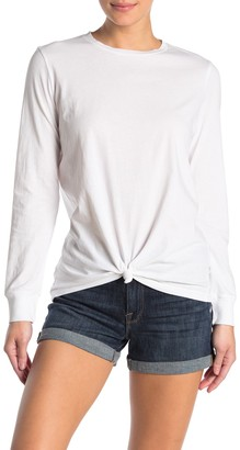 Frame Tied Up Crew Neck Long Sleeve T-Shirt