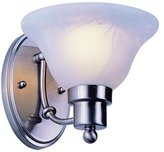 Trans Globe Lighting Transglobe Lighting 6541 BN Wall Sconce with White Glass Shade