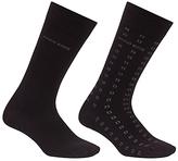 Hugo Boss Boss Design Cubes Socks, Pack Of 2, Black