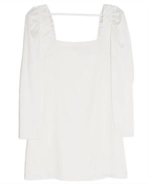 Danielle Bernstein Long-Sleeve Mini Dress, Created for Macy's