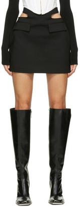 Dion Lee Black Y-Front Miniskirt