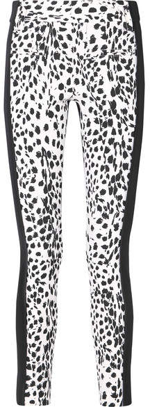 Haider Ackermann Leopard-print Wool And Leather Slim-leg Pants - White