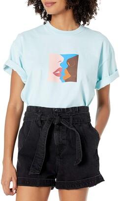 Obey Women's Short Sleeve Crop TEE