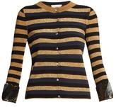 Sonia Rykiel Sequin-embellished striped-knit cardigan