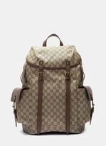 Gucci Men's Neo Vintage Gg Supreme Print Backpack In Brown