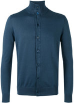Cruciani button front stand-up collar cardigan