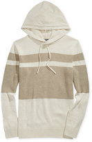 American Rag Men's Hooded Mixed Media Stripe Knit Sweater, Only at Macy's