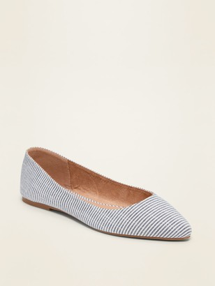 Old Navy Patterned Textile Pointy-Toe Ballet Flats for Women
