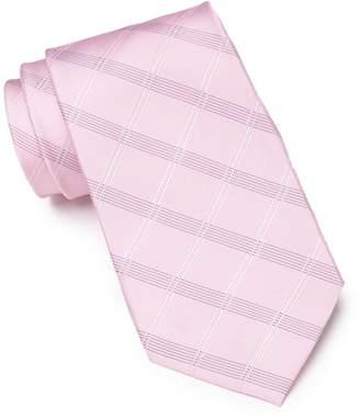Calvin Klein Silk Blend Windowpane Tie