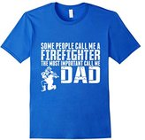 Special Tee Men's People Call Me Firefighter Important Call Me Dad T-Shirt XL