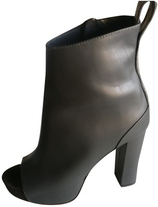 Brunello Cucinelli Grey Leather Ankle boots