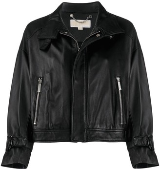 MICHAEL Michael Kors Cropped Biker Jacket