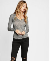 Express one eleven ribbed v-neck tee