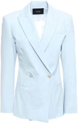 Maje Double-breasted Woven Blazer