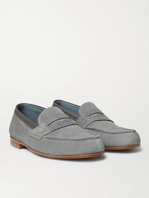 J.M. Weston 281 Le Moc Suede Loafers