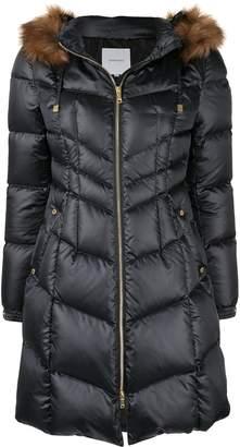 Loveless padded trimmed puffer coat