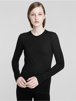 Calvin Klein Collection Featherweight Cashmere Long Sleeve Tee