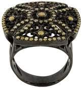 Loree Rodkin 18kt black gold and diamond square ring