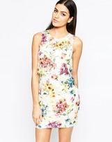 Lipsy Shift Dress in Floral Lace