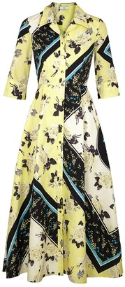 Erdem Kasia Printed Cotton Shirt Dress