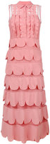 RED Valentino scalloped ruffle shirt-dress