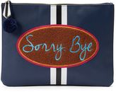 Tricoastal Design Tri-Coastal Design ''Sorry, Bye'' Oversized Pouch Cosmetic Bag