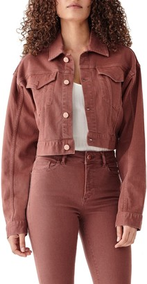 DL1961 X Marianna Hewitt Annie Crop Denim Jacket