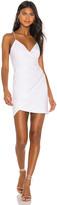 Alice + Olivia Ashanti Leather Faux Wrap Side Zip Dress