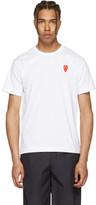 Comme des Garcons White Long Heart T-Shirt