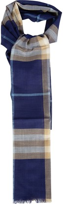 Burberry Unfinished Edge Scarf
