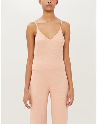 Skin Deidre stretch-knit pyjama top