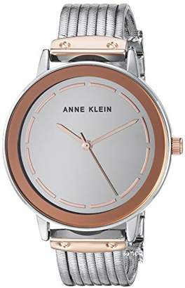 Anne Klein Women's Gold-Tone Chain Bracelet Watch