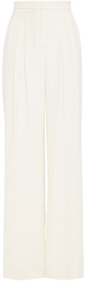 Carolina Herrera Pleated Silk-jersey Wide-leg Pants