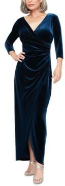 Alex Evenings Velvet Surplice Gown
