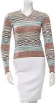 M Missoni Patterned V-Neck Sweater